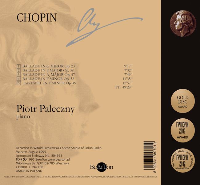 Chopin Ballady, Fantazja CDB001