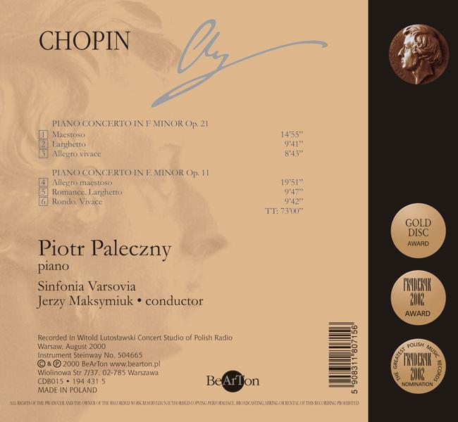Chopin Koncerty fortepianowe V11 CDB015 WNA