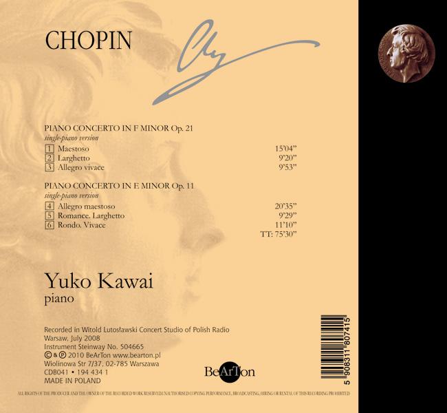 Chopin – Koncerty fortepianowe (wersja na fortepian solo) CDB041