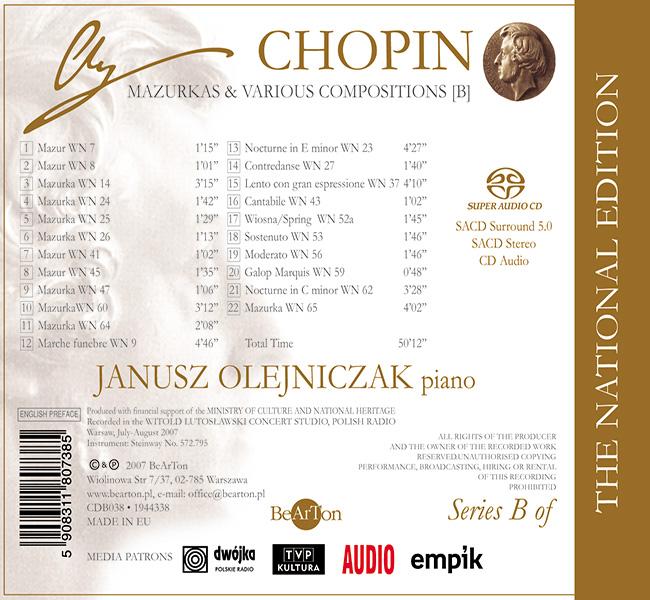 Chopin - Mazurki i inne utwory [B] CDB038