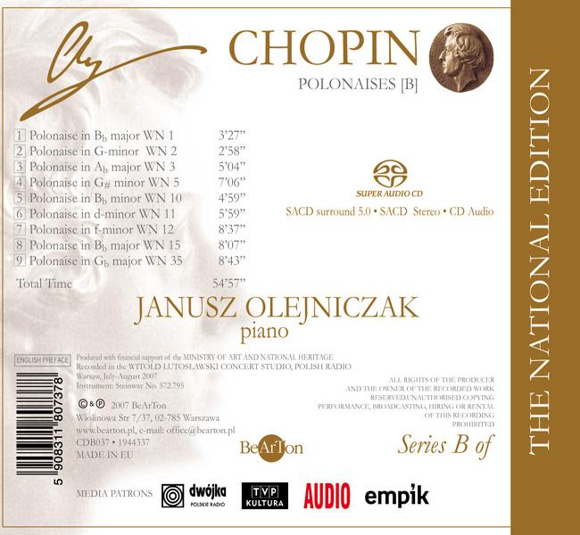 Chopin – Polonezy [B] CDB037