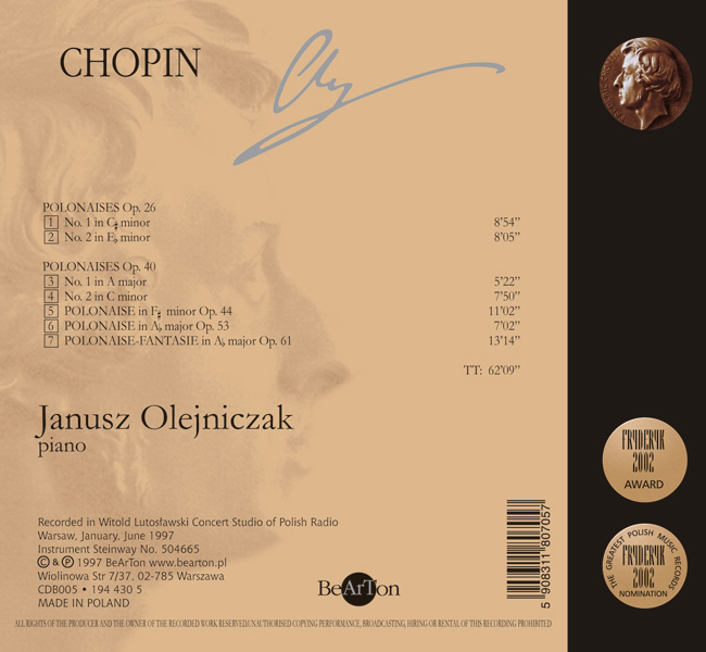 Chopin Polonezy V3 CDB005 WNA