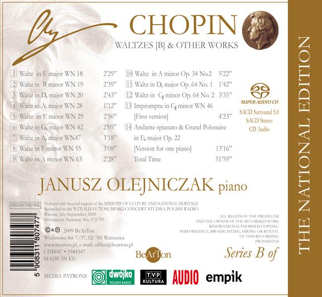 Chopin – Walce [B] i inne utwory CDB047