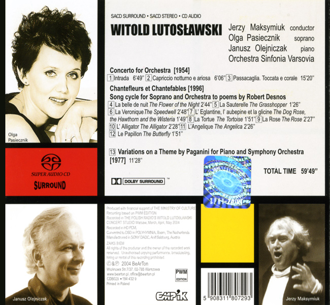 Witold Lutosławski CDB029