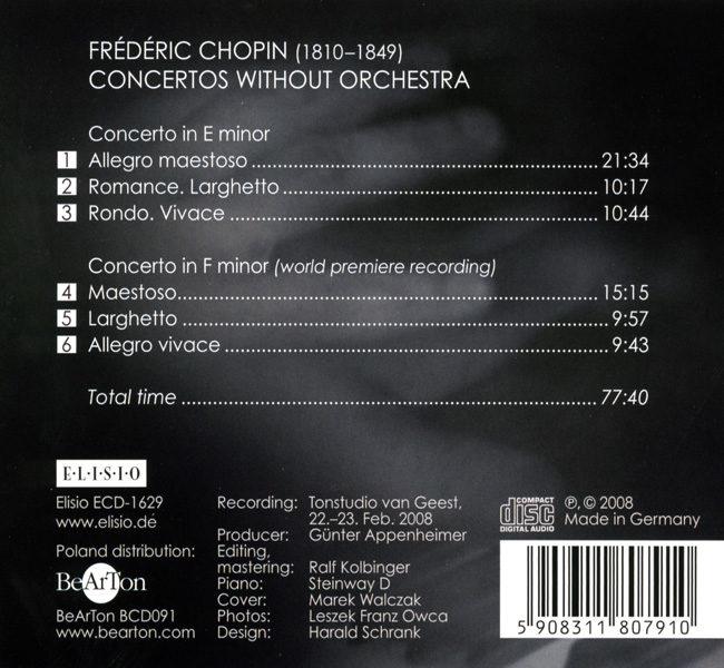 Chopin - Koncerty fortepianowe - wersja na fortepian solo CDB091